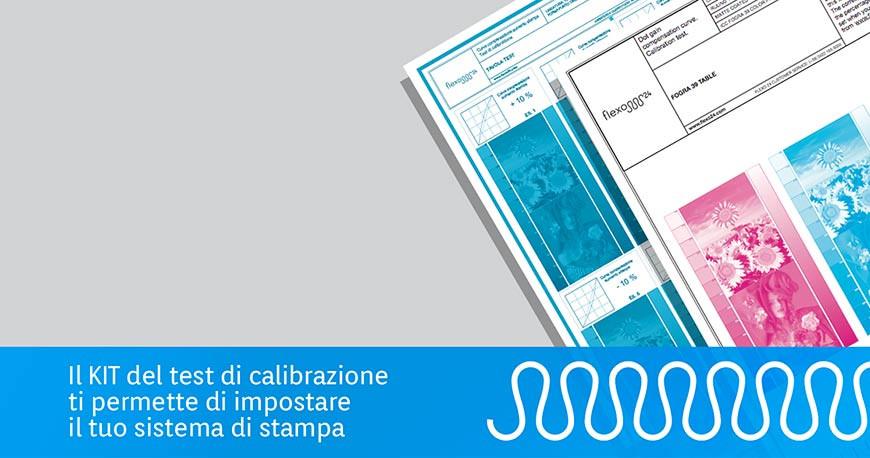 Macchina flessografica: impostala correttamente con il test di calibrazione flexo