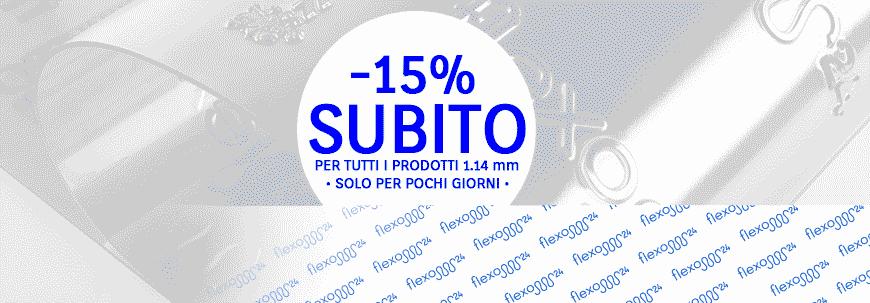 Flexo 24, -15% subito sui prodotti 1.14 mm.