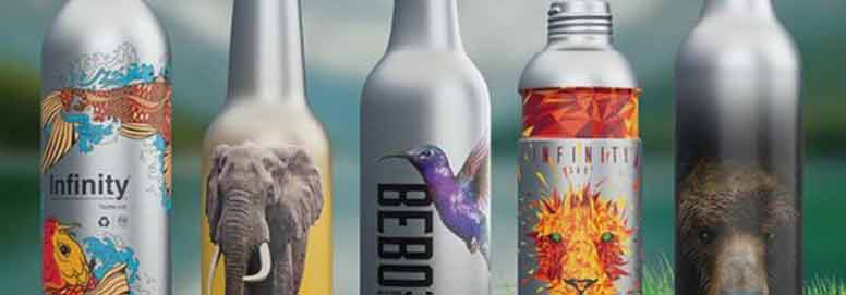The aluminum bottle confirms the packaging trend.