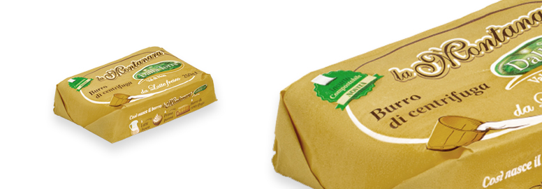 La Montanara Oro Butter – with compostable packaging (NOT ENGLISH VERSION)