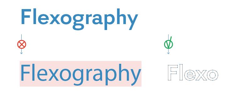 Convertire in oggetti tutti i testi per generare il Pdf per la flexo.