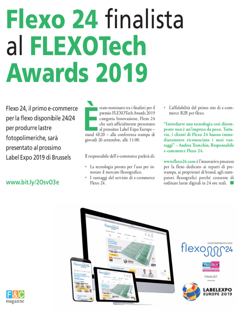 Flexo 24 finalista al FlexoTech Awards 2019. - FeC MAGAZINE - FLEXOGRAVURE AND CONVERTING